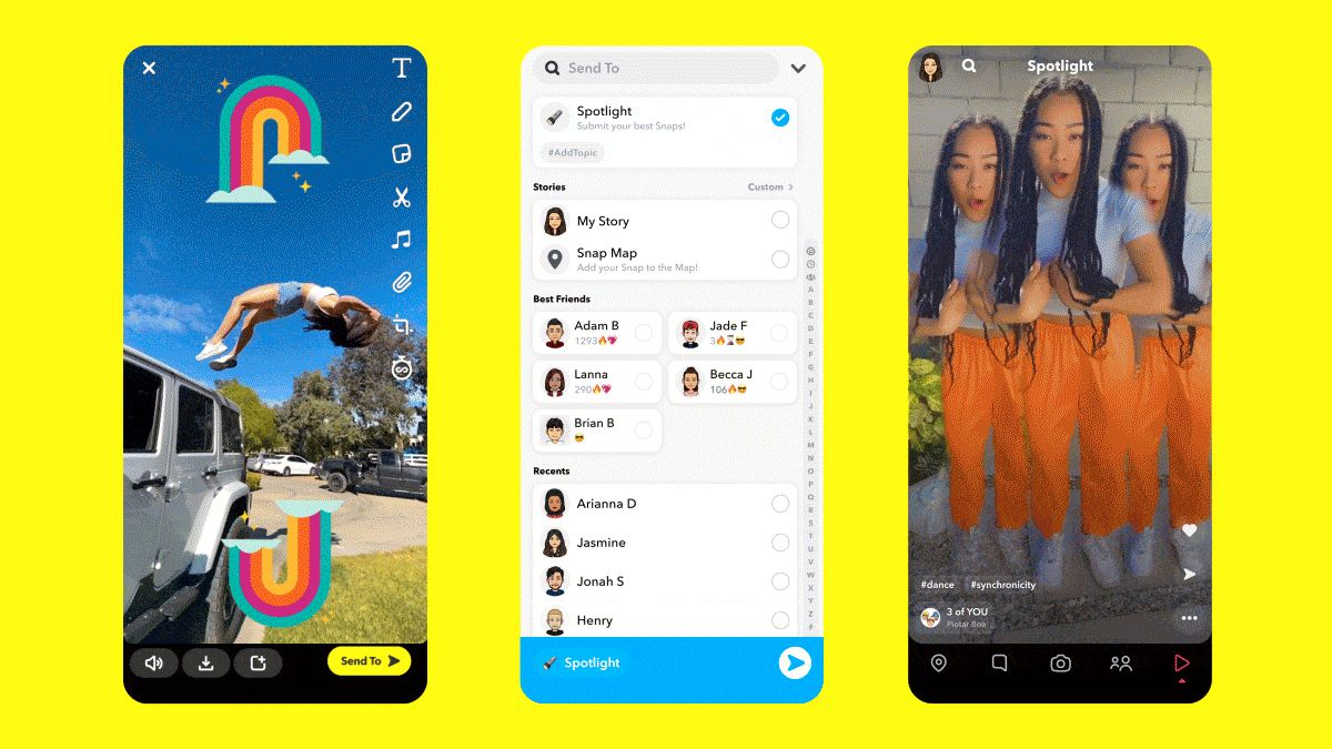 Snapchat lanserer Spotlight, en egen fane i appen som minner veldig om TikToks konsept.