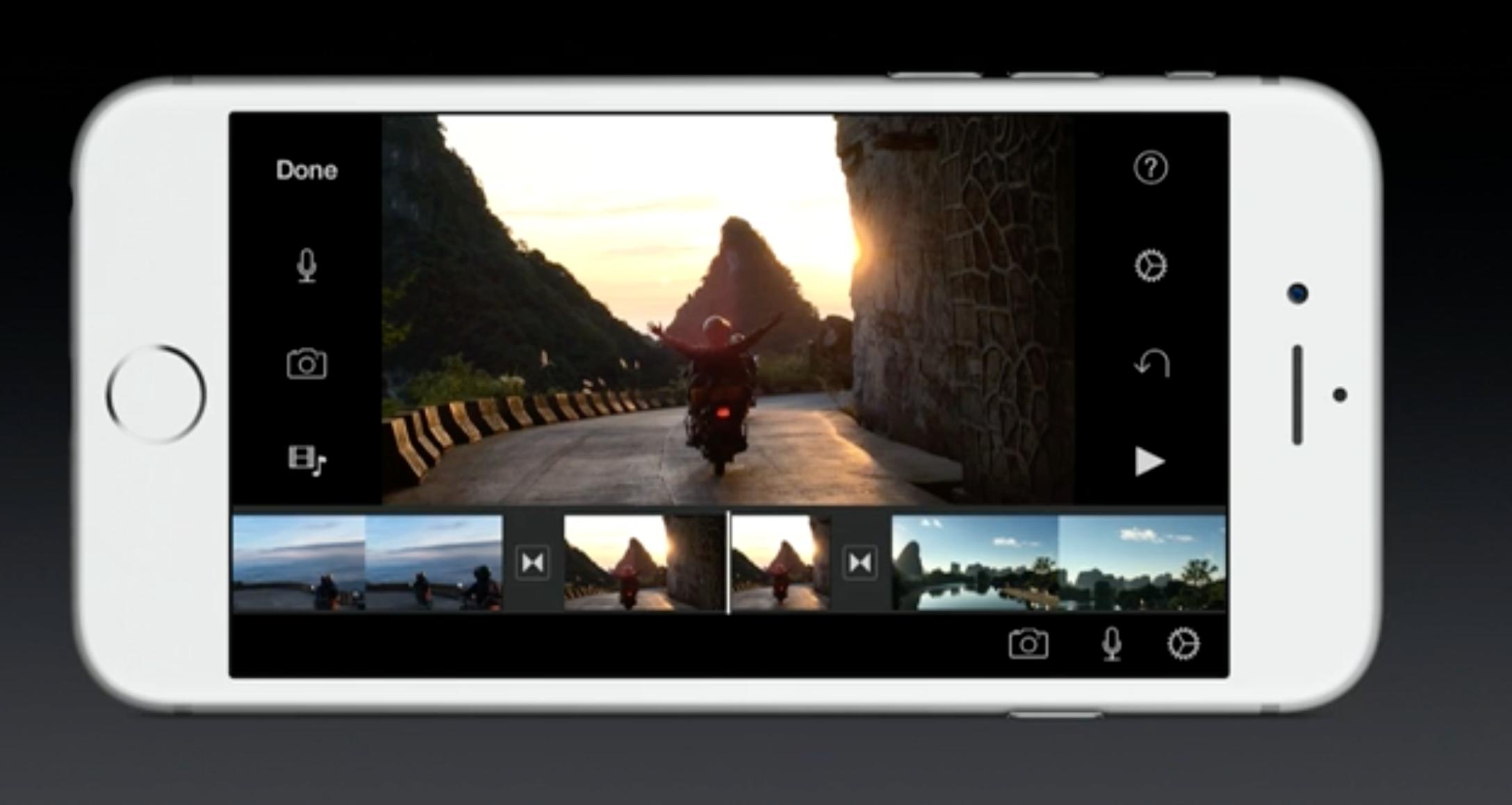 iPhone 6S kan ta opp videoklipp i 4K-oppløsning.