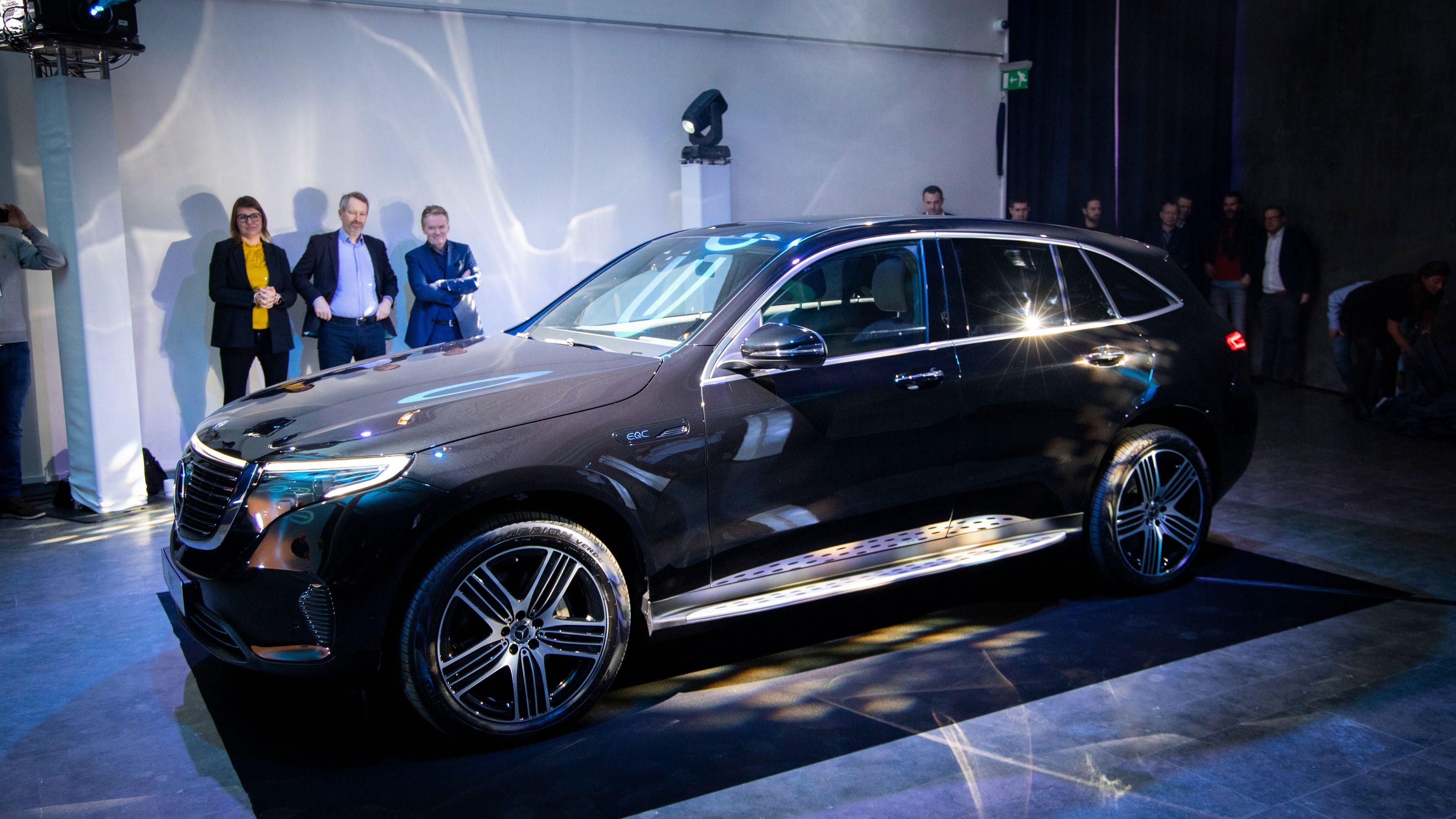 Det er ingen tvil om at Daimler ser på Norge som et viktig EQC-marked. Allerede i februar ble bilen vist frem til potensielle kunder i Oslo.