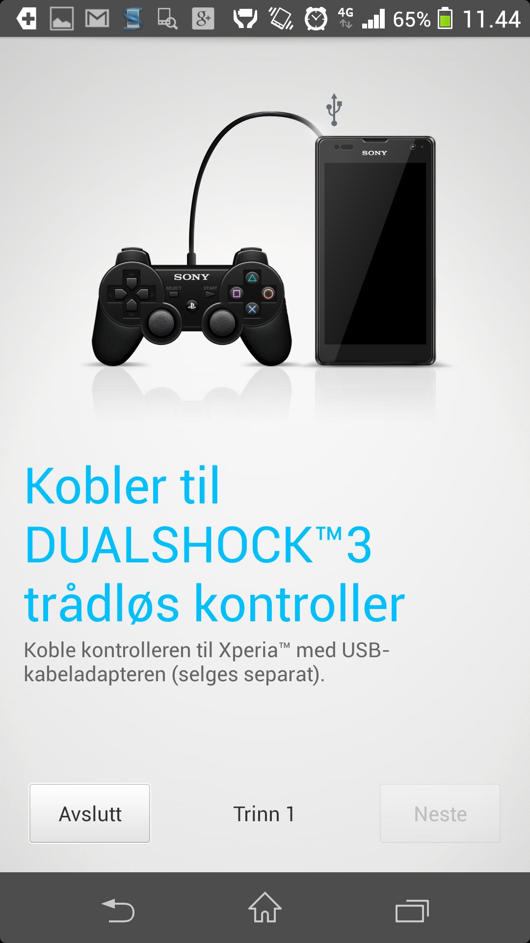 Du kan bruke PlayStation-kontrollene dine med spillene på Xperia Z. Du kan også overføre bildet til en TV, og bruke mobilen som spillkonsoll.