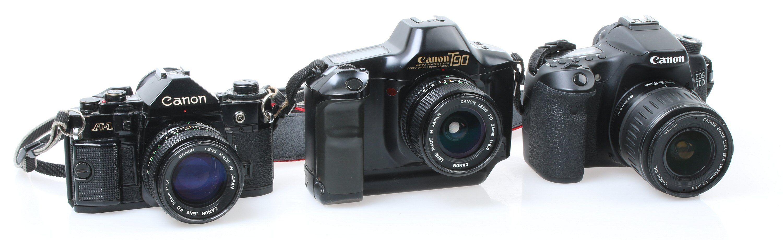 Canon A-1, T90 og EOS 70D. Foto: Vegar Jansen, Tek.no