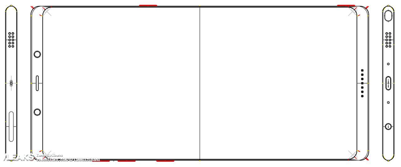 Slik ser Note 8 ut, ifølge den ferske lekkasjen. Designet ligner på Galaxy S8.