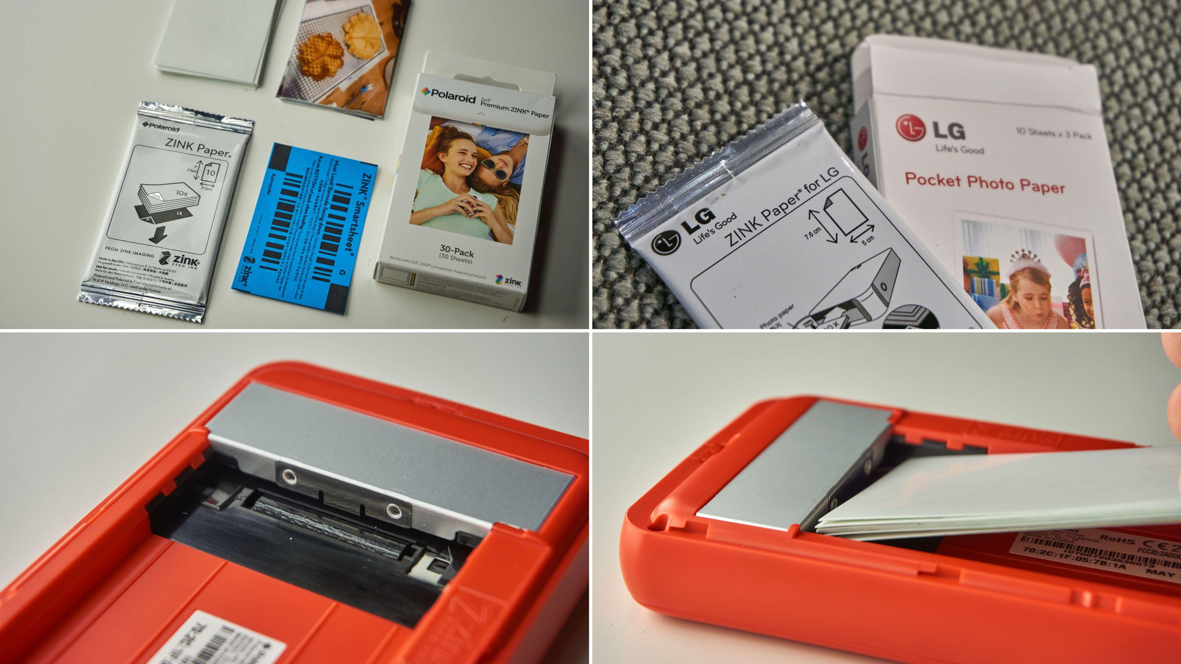 Det finnes en del forskjellige typer ZINK-papir, men Polaroid sitt eget er artigst.