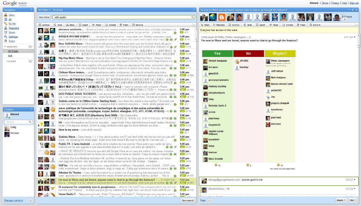 Wave skulle samle e-post, lynmeldinger, nettleksikon og sosiale nettjenster i ett produkt. Foto: Wikipedia