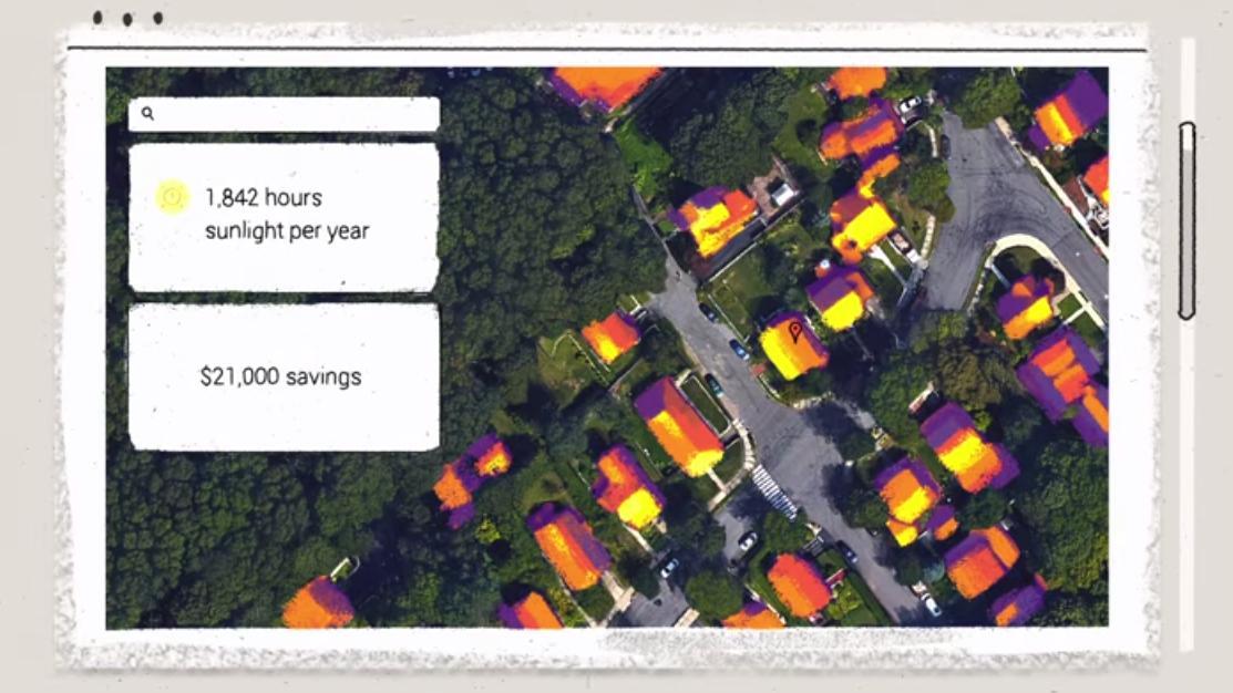 Google-verktøy finner ut om du bør kjøpe solcellepaneler