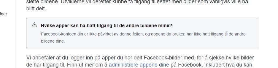 Facebook har laget et eget verktøy som sjekker om du ble rammet av feilen. Slik ser det ut hvis du ikke trenger å bekymre deg.