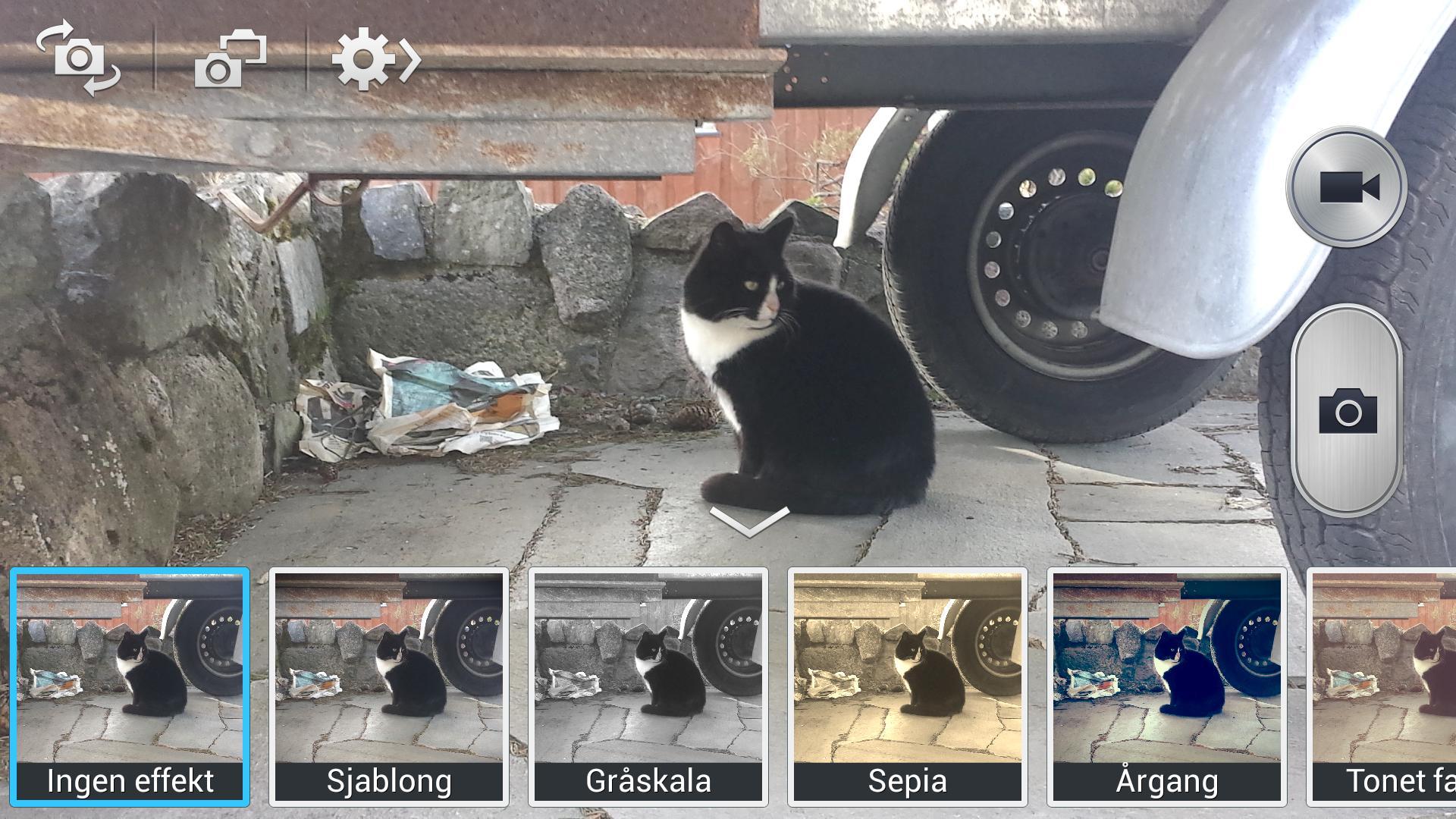 Det fins haugevis av filtre og funksjoner å velge i inni kameraappen.Foto: Finn Jarle Kvalheim, Amobil.no