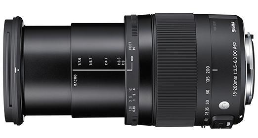 18-200mm fullt utfelt.Foto: Sigma