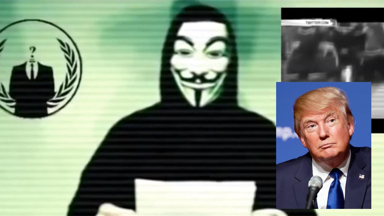Anonymous truer Donald Trump