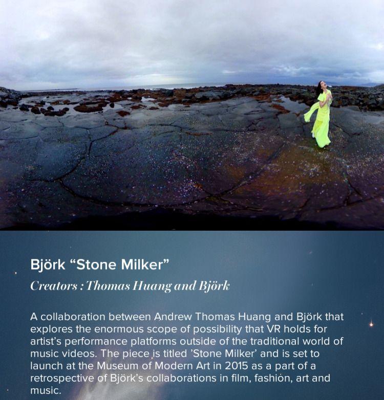 Björk - Stone Milker «kommer snart» til VRSE.