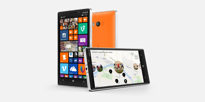 Lumia 930 er flaggskipmodellen. Den er like kraftig som Lumia 1520, men skjermstørrelsen er redusert fra 6 til 5 tommer.Foto: Nokia