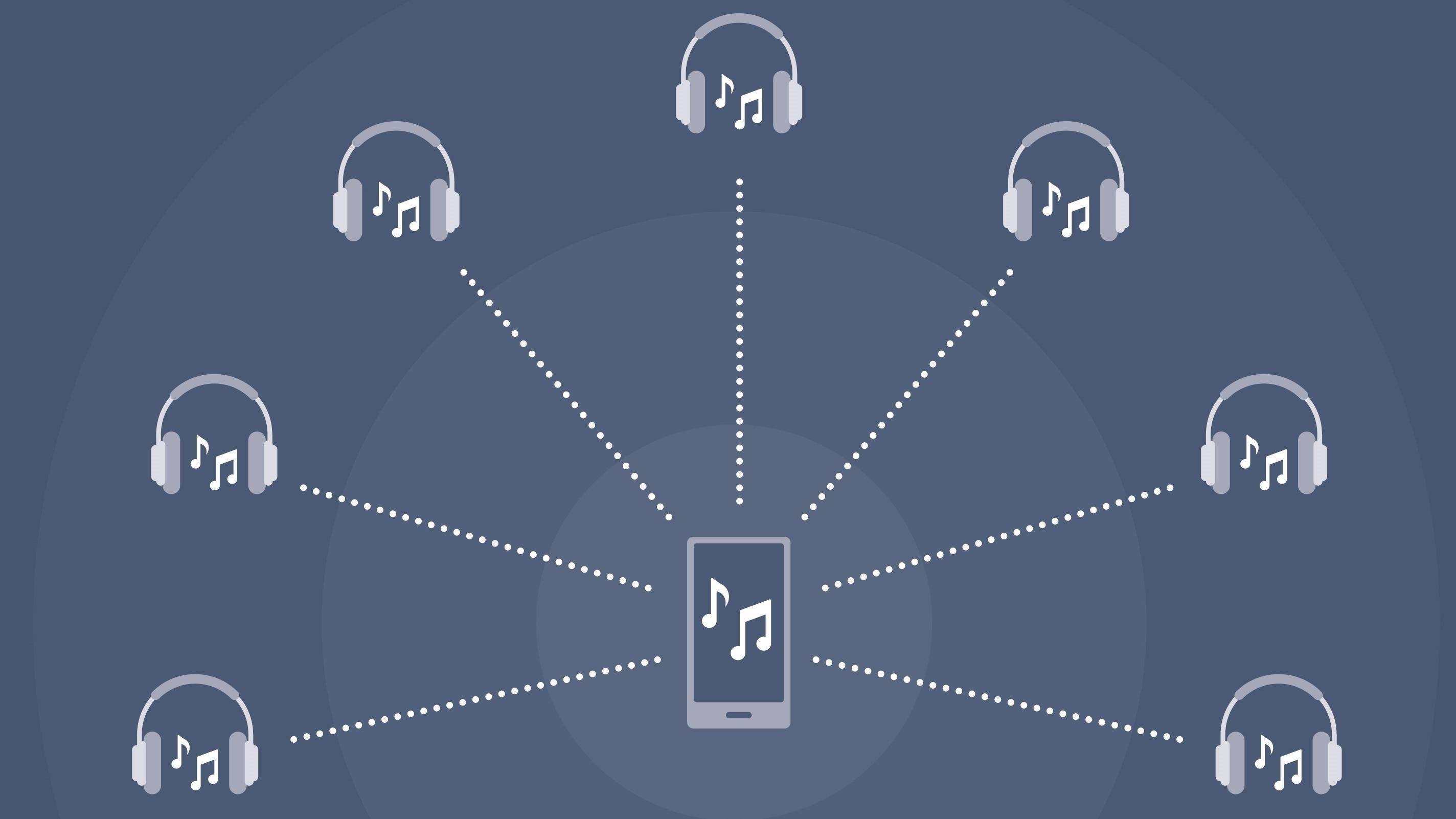 I år vil toppmobilene kunne strømme musikken til flere haugevis av Bluetooth-høyttalere samtidig