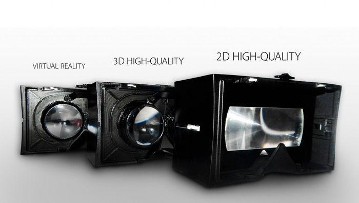 Brillene kommer med tre moduler til ulikt bruk. Foto: Kickstarter