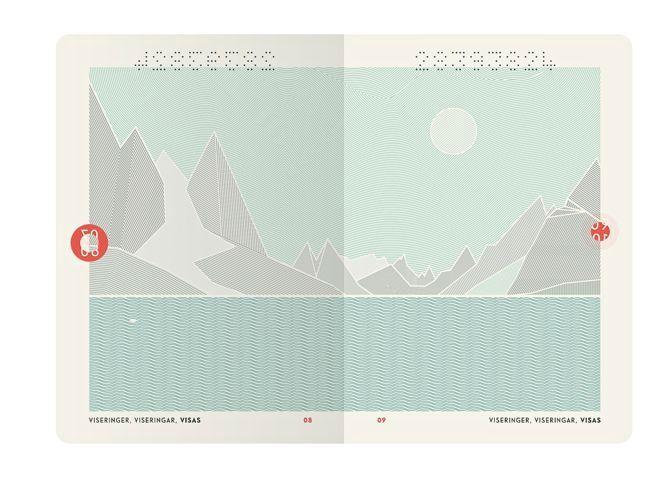 Slik ser visumsidene i passet ut til vanlig.Foto: Neue Design Studio