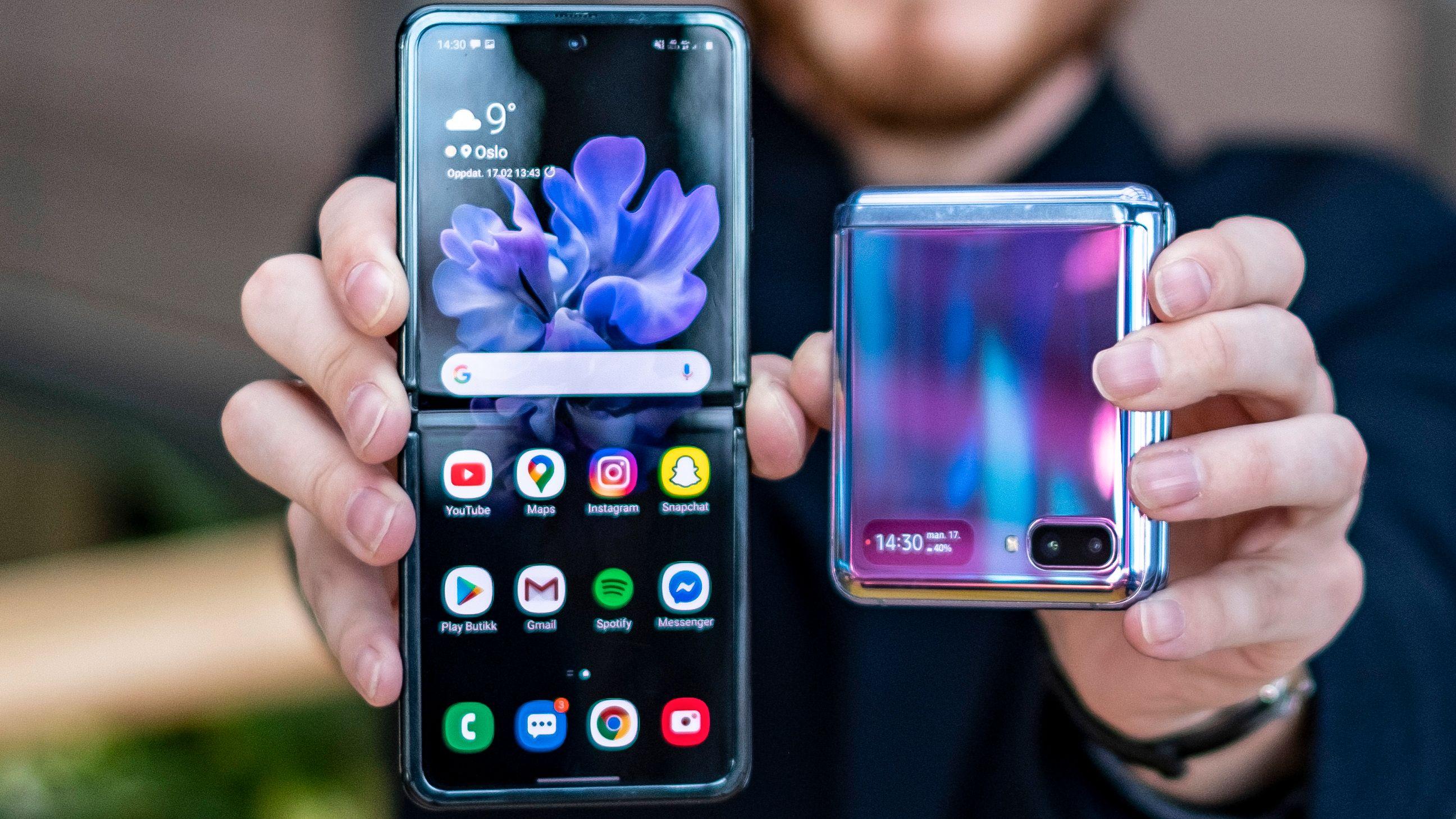 Galaxy Z Flip er blant telefonene som har fått et lite prishopp i det siste.