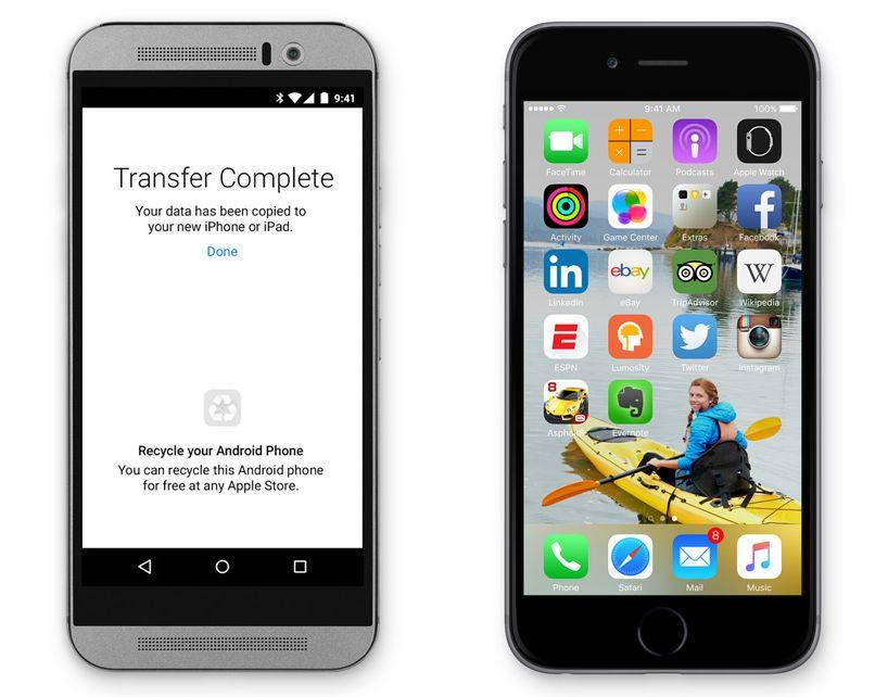 Ikke uventet vil Apple gjerne gjøre det enkelt for Android-brukere å bytte til iOS. Gratis-appene følger med (iOS-versjoner), mens betalapper havner i ønskelisten din på iTunes. (Foto: Apple)