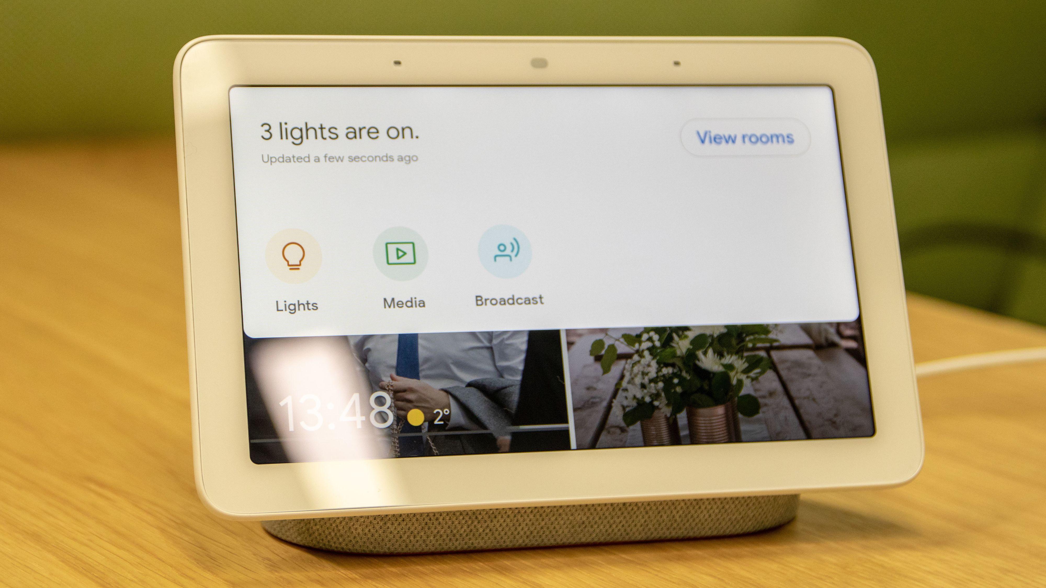 Sveiper du ned fra toppen av skjermen kan du styre resten av smartdingsene i hjemmet ditt.