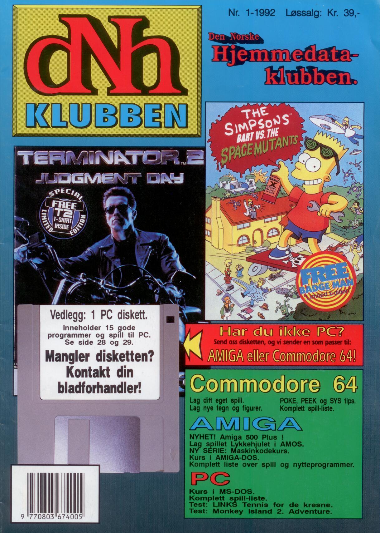 Forsiden, nr. 1 1992.Foto: Data-Tronic