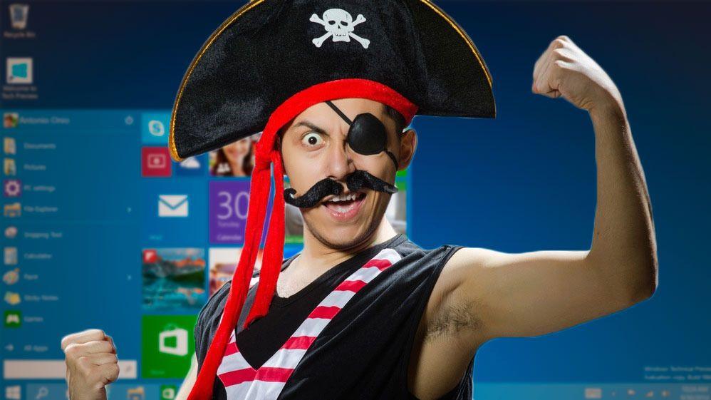Selv piratene får gratis Windows 10