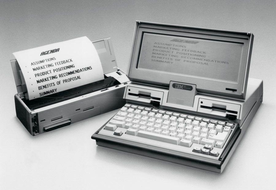 IBM 5140 Convertible. Printermodulen smetter på plass bak maskinen. Foto: Wikimedia