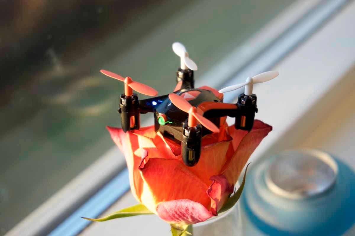I tillegg til de nærmest obligatoriske lysdiodene på hver arm, har Zoopa Q Zepto 55 en liten, grønn diode foran. Det hjelper på orienteringen, og gjør også dronen hakket raffere. Foto: Torstein Norum Bugge, Tek.no