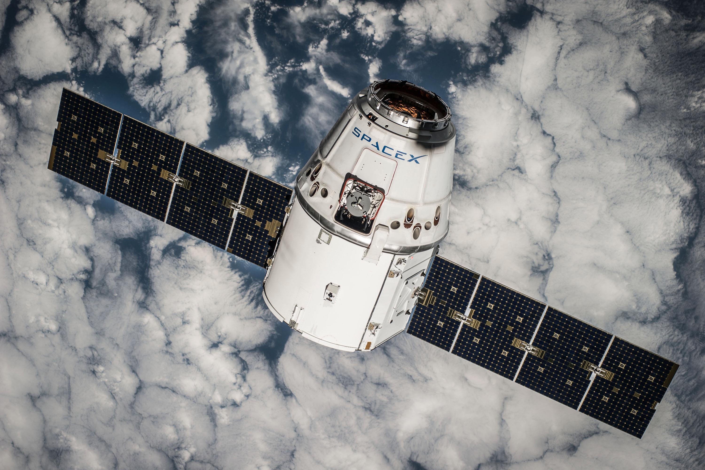 Dragon-kapselen til SpaceX. Foto: SpaceX