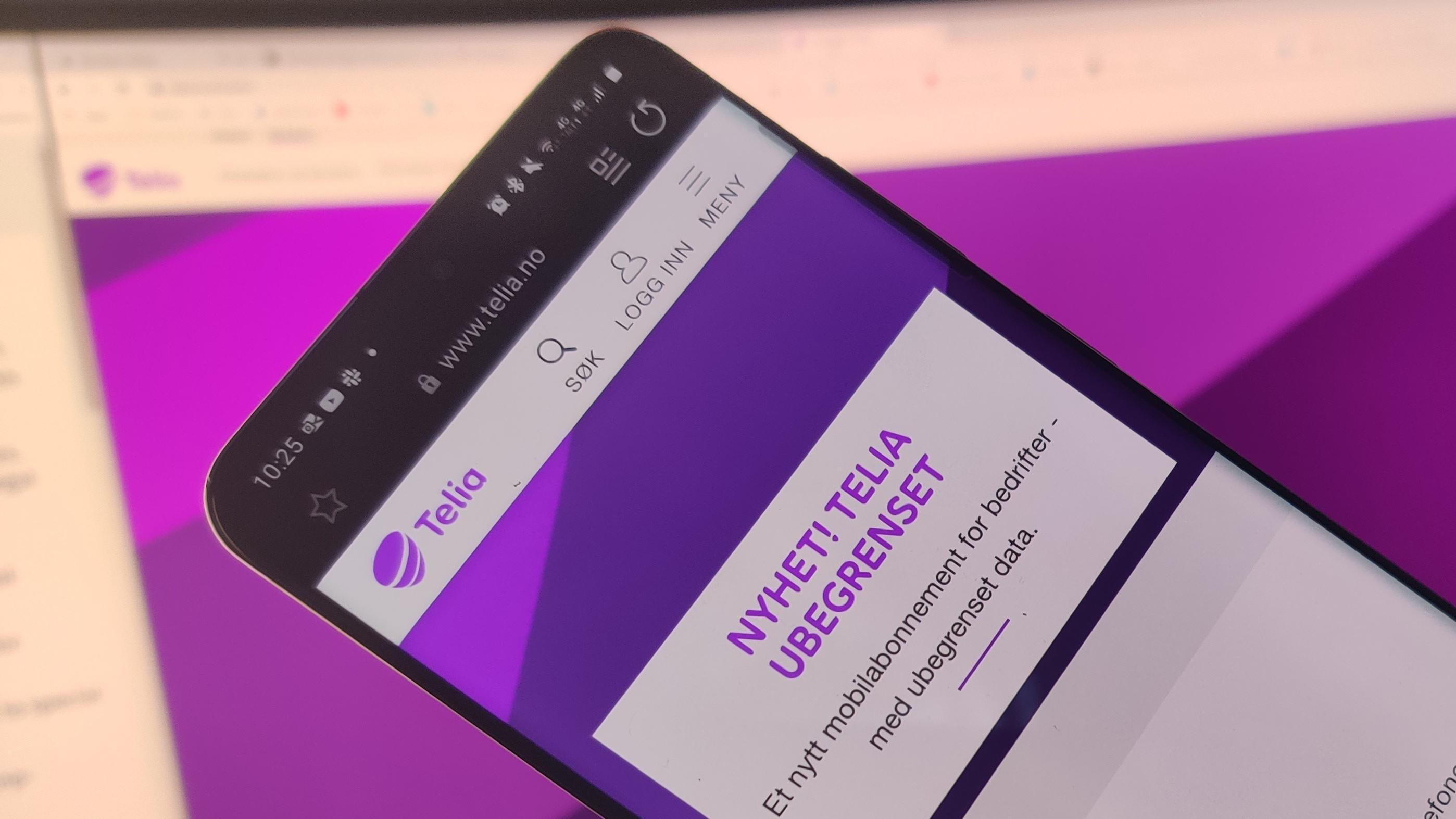 Telia lanserer bedriftsabonnement med ubegrenset data