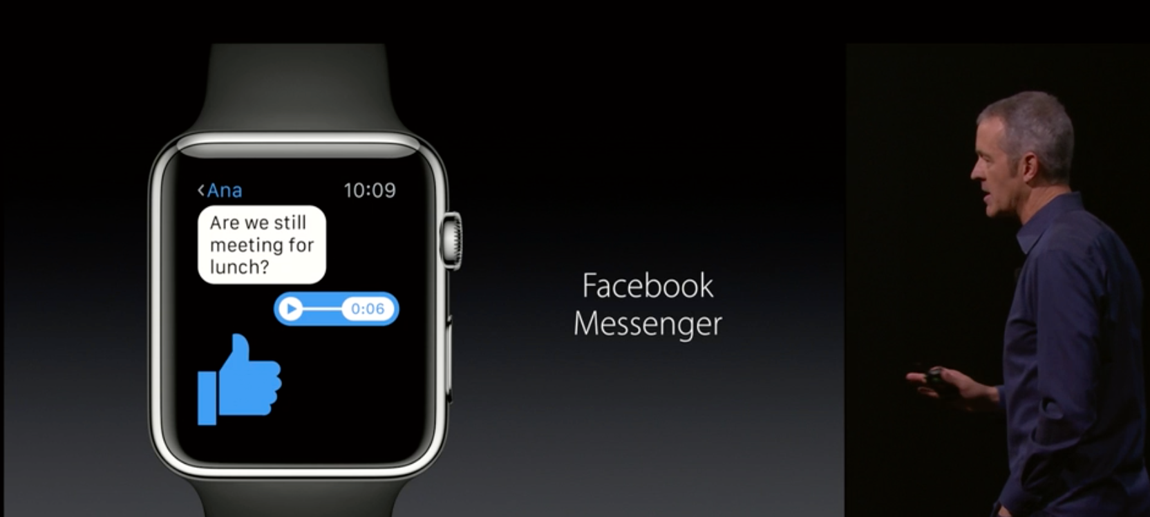 Facebook Messenger kommer til Apple Watch.