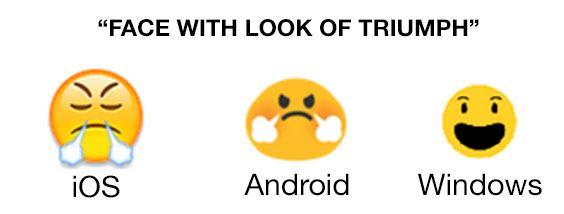 Det er bare Windows-emojien som faktisk ser glad ut.