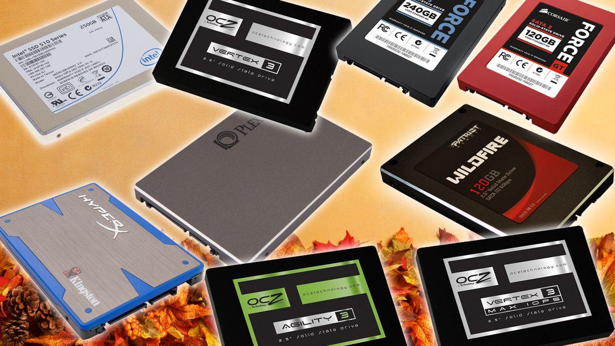 Ni SSD-er på testbenken