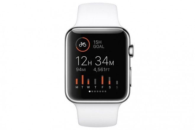 Strava på Apple Watch.