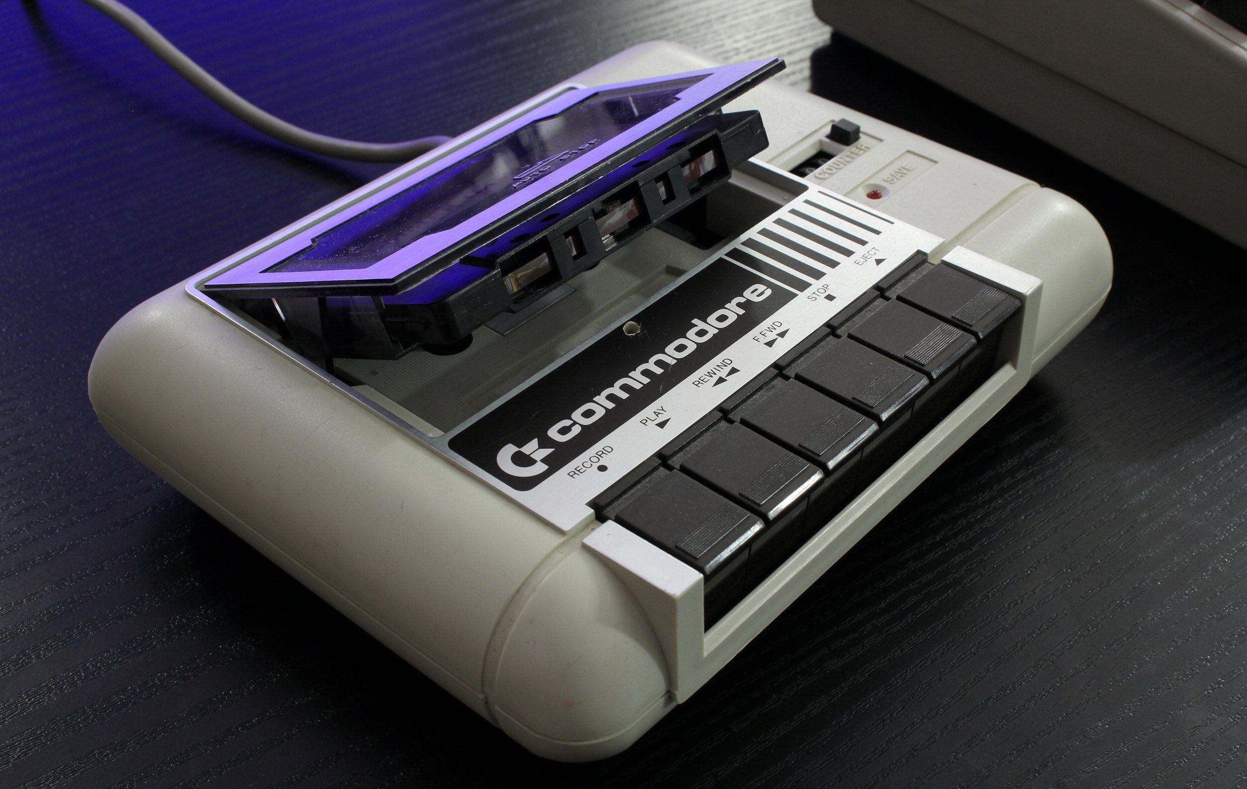 Kassettspilleren: Commodore 1530 Datasette. Foto: Vegar Jansen, Tek.no
