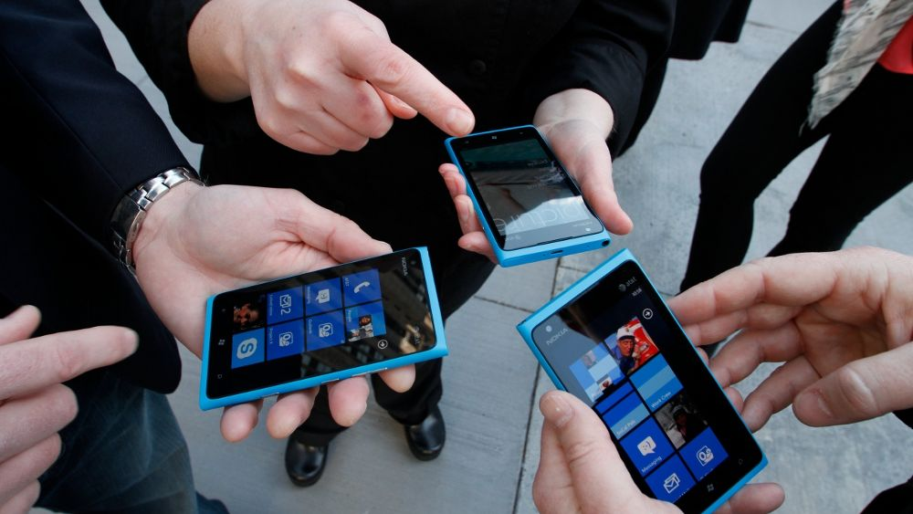 Windows Phone forbi BlackBerry i Europa