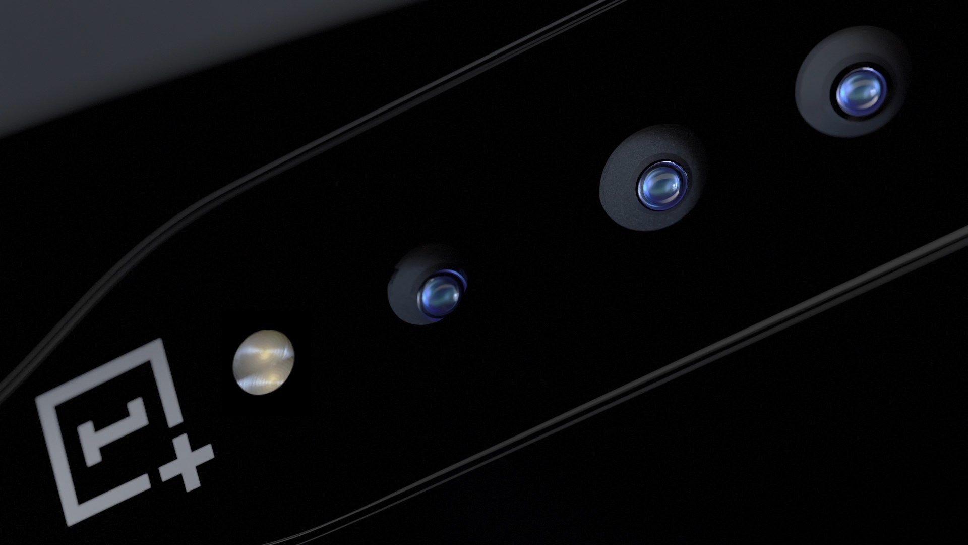 Glasset over kameraene på OnePlus Concept One kan bli svart og skjule linsene helt når de ikke er i bruk.