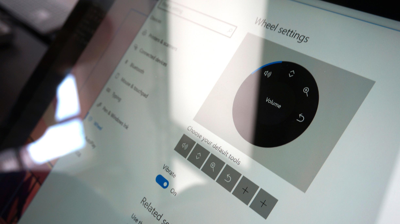 Windows har fått en egen valgmeny for Surface Dial.