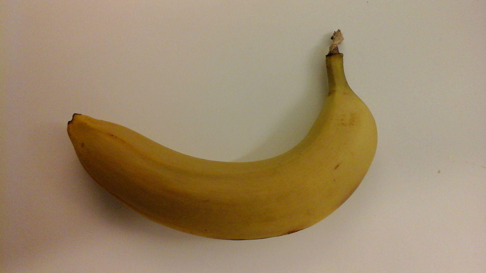 Her har vi brukt Galaxy Tab Actives premiumkamera til å dokumentere en banan. Foto: Finn Jarle Kvalheim, Tek.no
