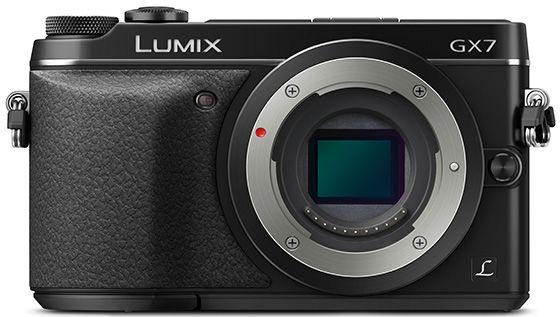 I moderne speilløse kameraer kikker du rett inn på bildebrikken når objektivet fjernes, slik som hos Panasonic GX7 her viser.Foto: Panasonic