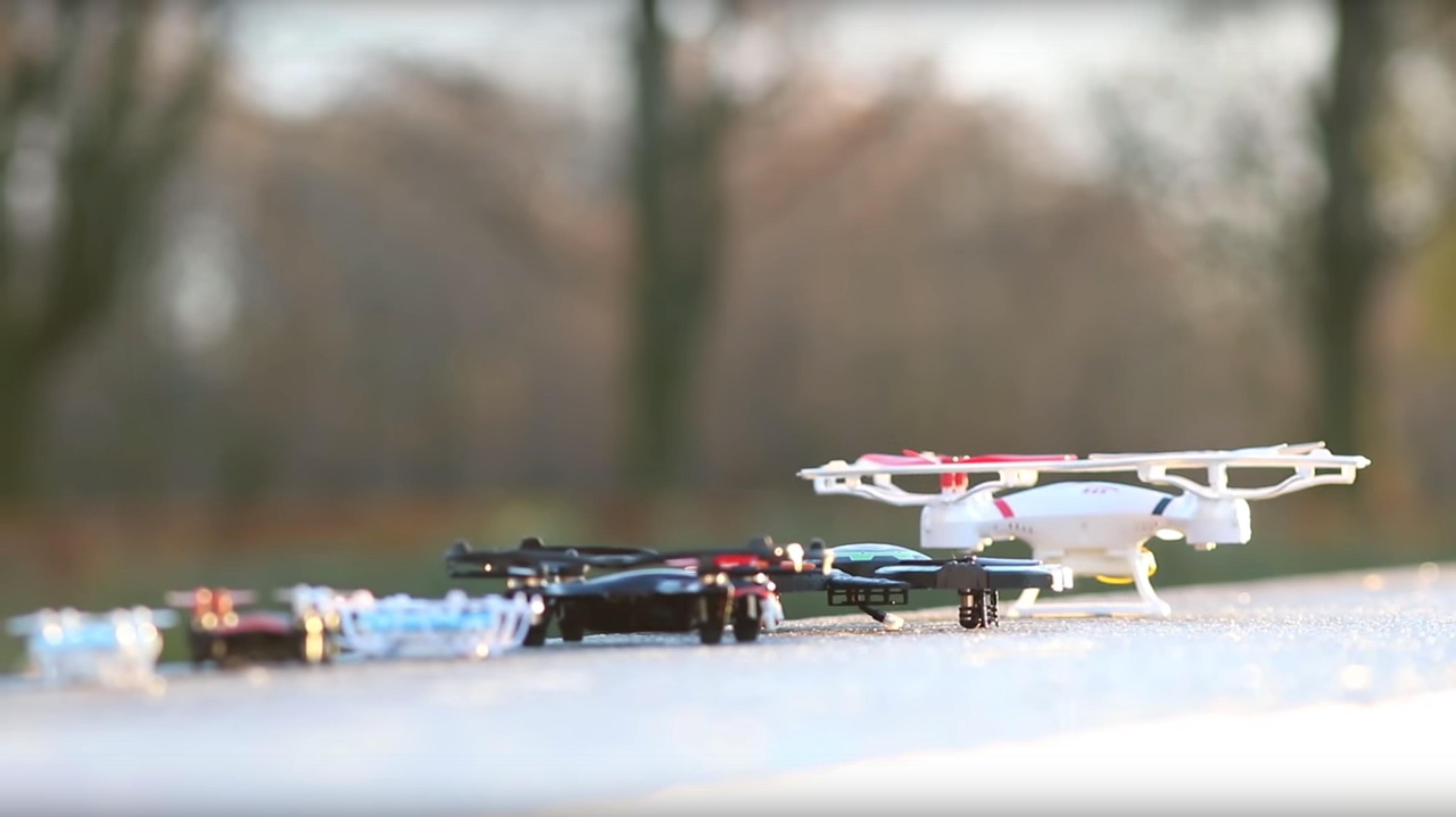 Alle disse seks dronene, som vi testet for kort tid siden, havner i nano-kategorien under 250 gram.
