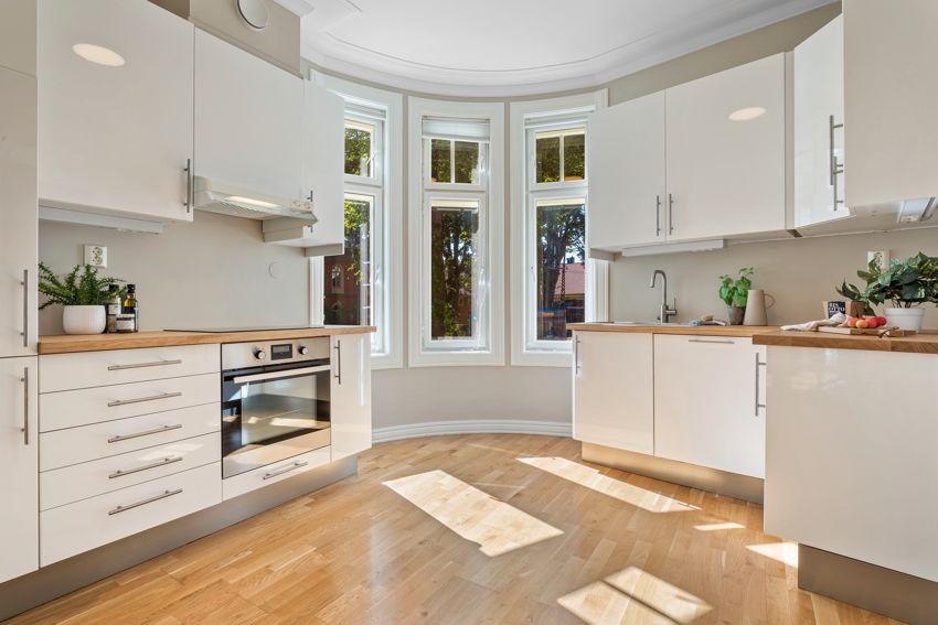 OPPGRADERT: Kjøkkenet har fått flere oppgraderinger i 2021.