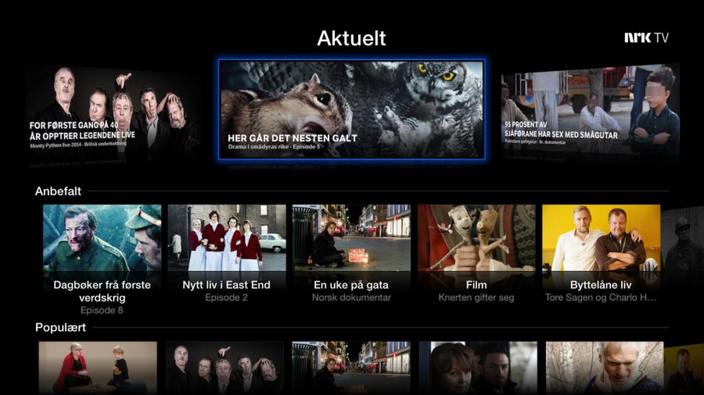 Nå kan du se alt fra NRK på Apple TV