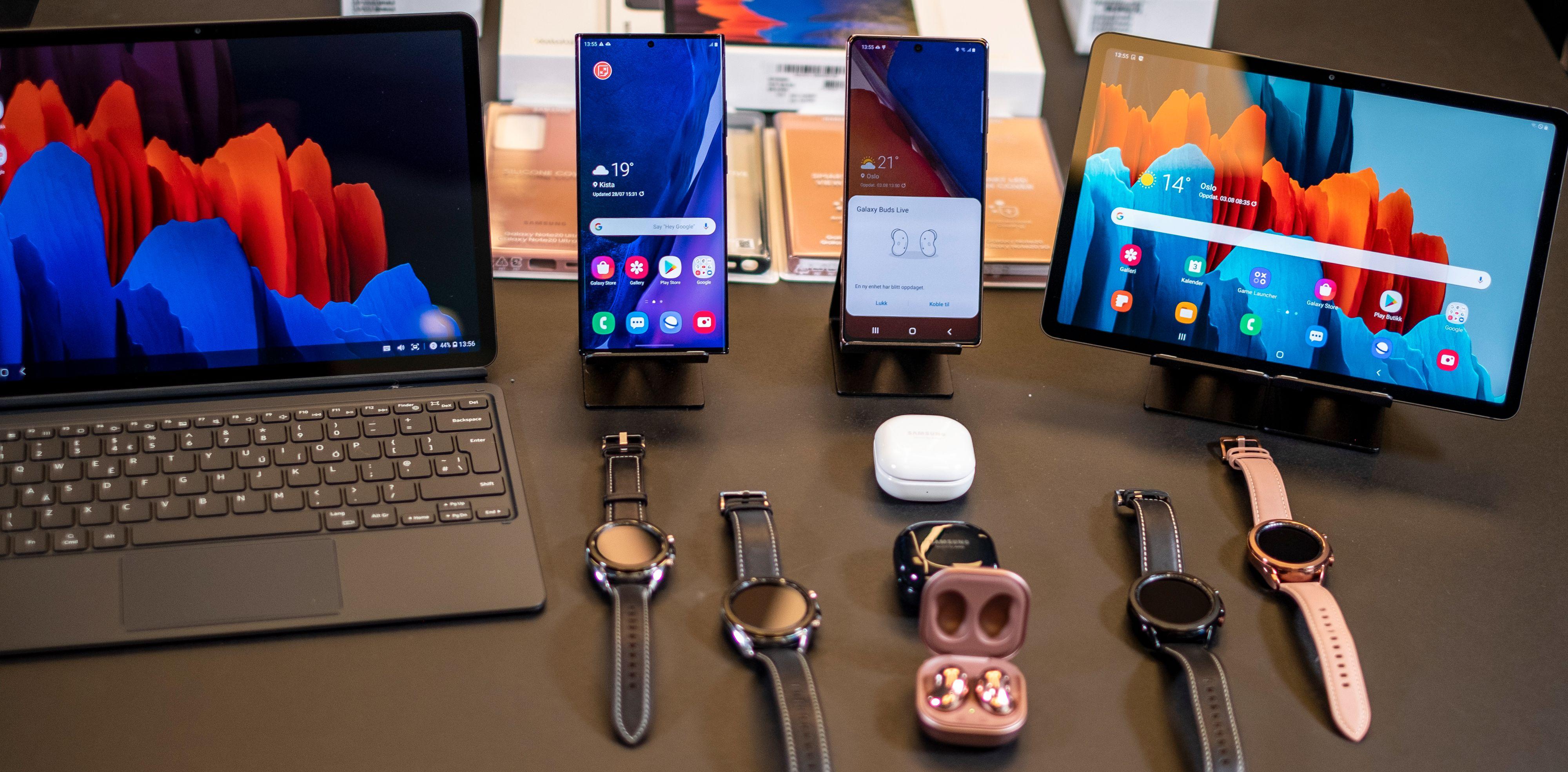 En hel haug nye Samsung-produkter ble lansert