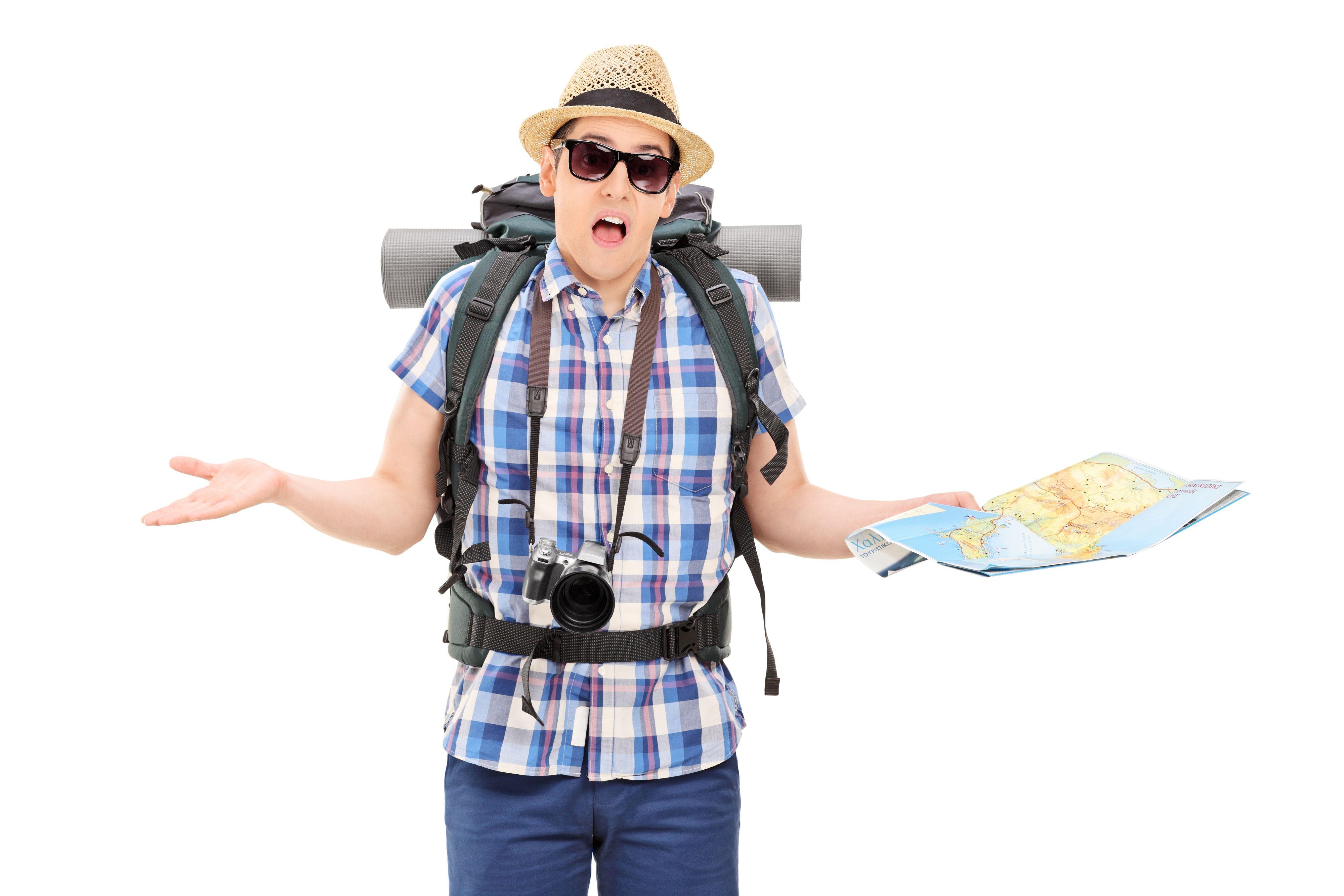 Prøv å ikke se for bortkommen ut, og pass på hvor du har kameraet.Foto: Shutterstock