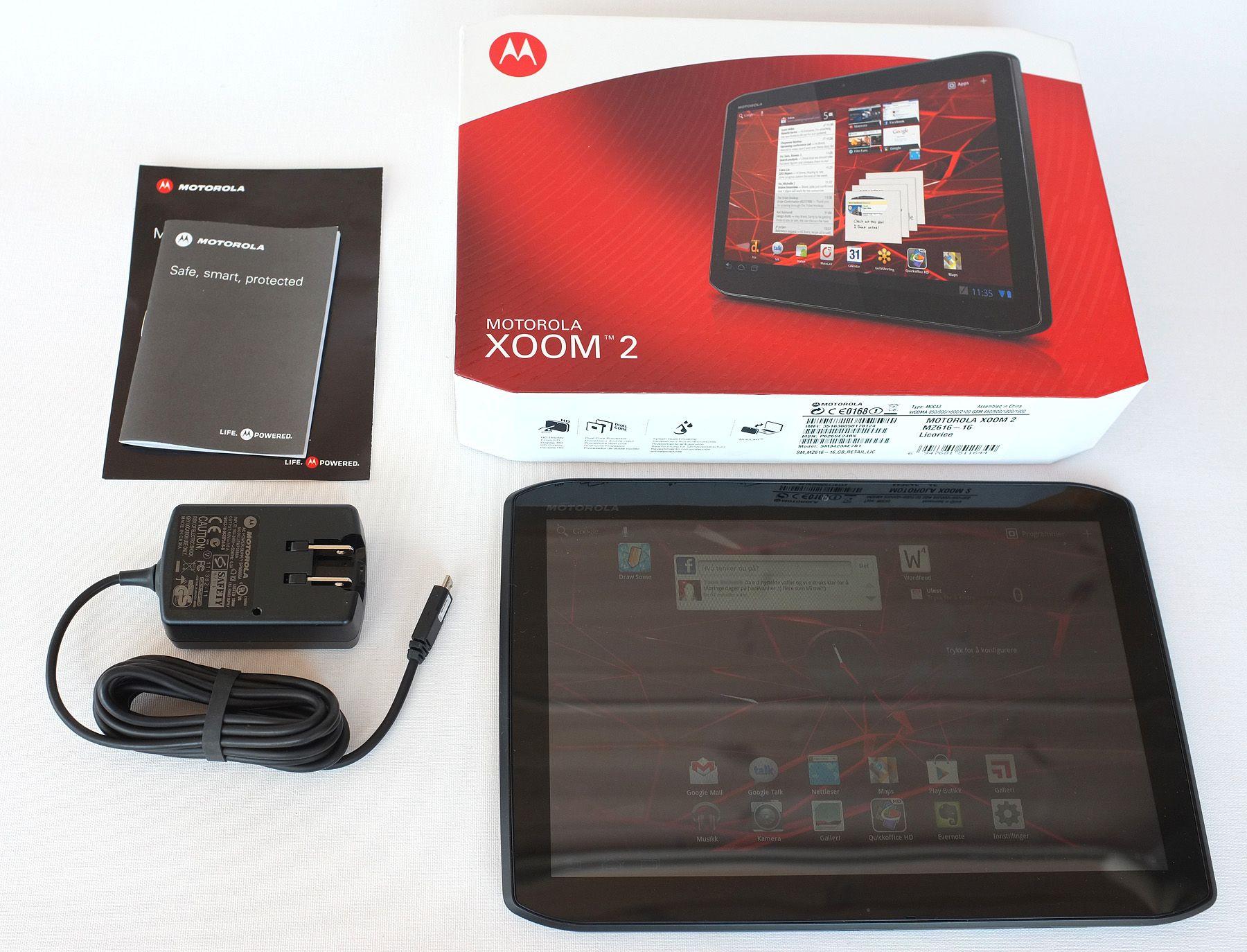 Motorola Xoom 2 salgspakke.Foto: Audun M. Solheim