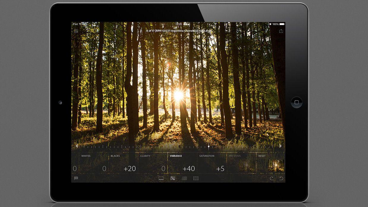 Adobe Lightroom har kommet til iPad