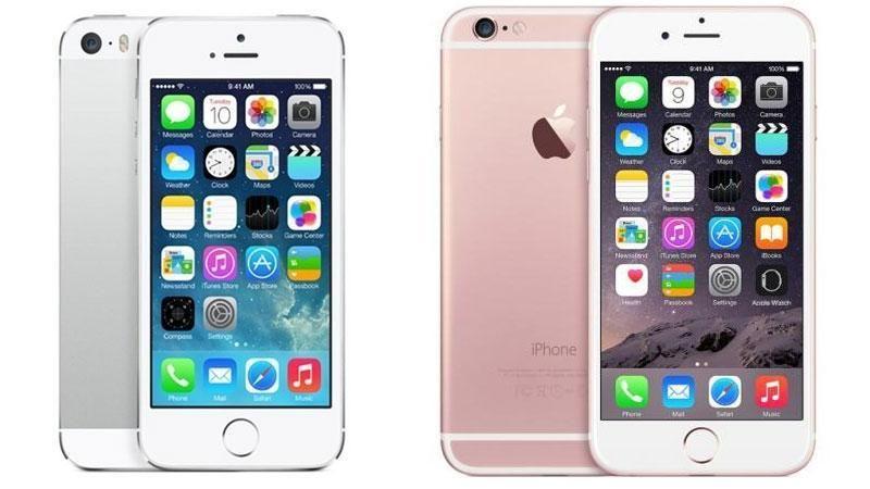 Dette er selve opphavet, og de to forskjellige designretningene Apples minimobil kan la seg inspirere av. Til venstre: iPhone 5S. Til høyre: iPhone 6S.