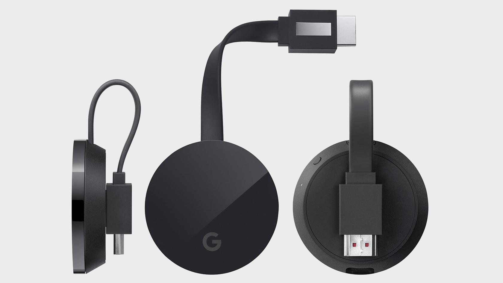 Slik ser 4K-Chromecast-modellen ut.