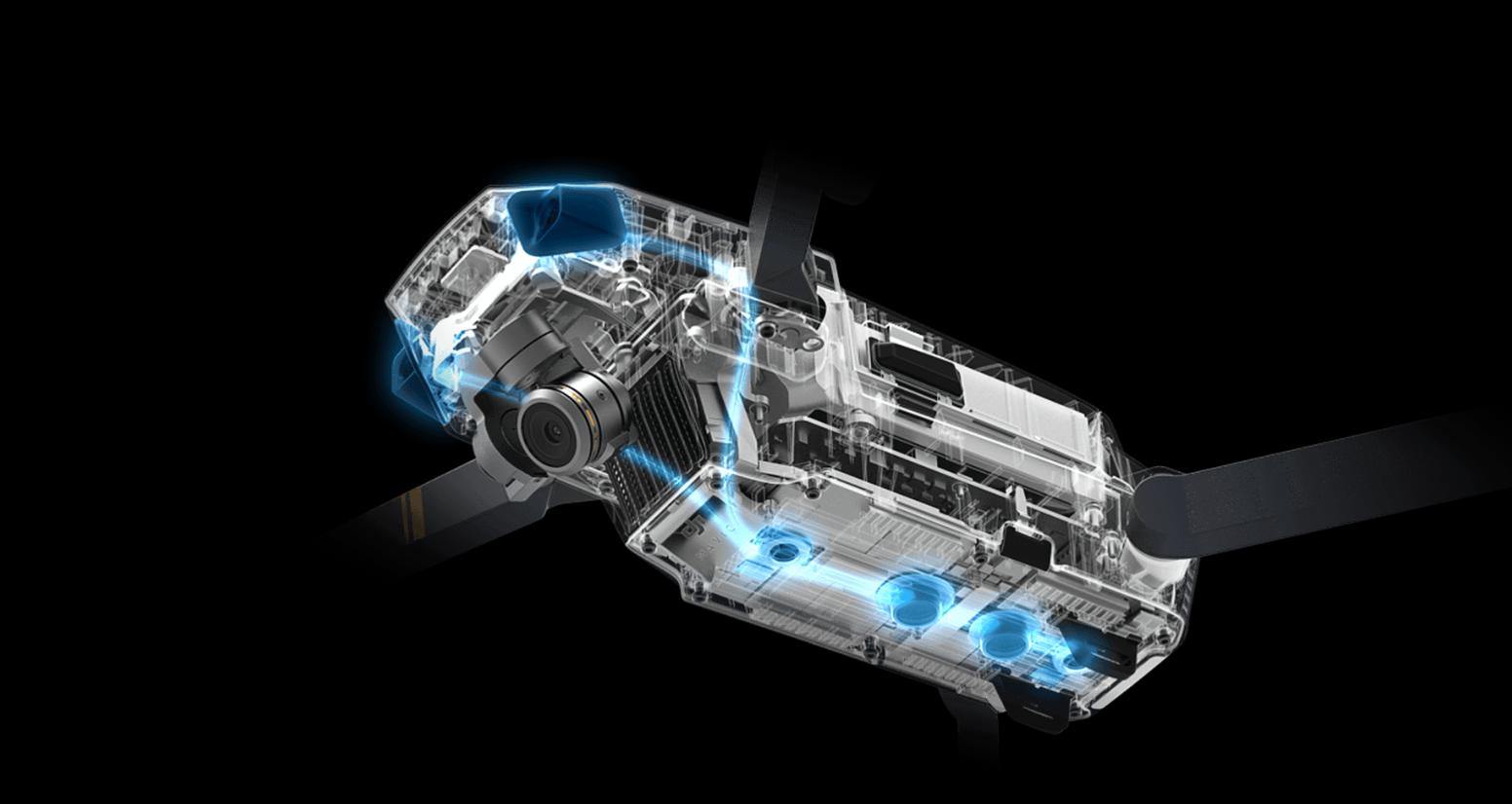 Dronen kommer med alskens moderne teknologier, deriblant DJIs nye hindringsdeteksjon.