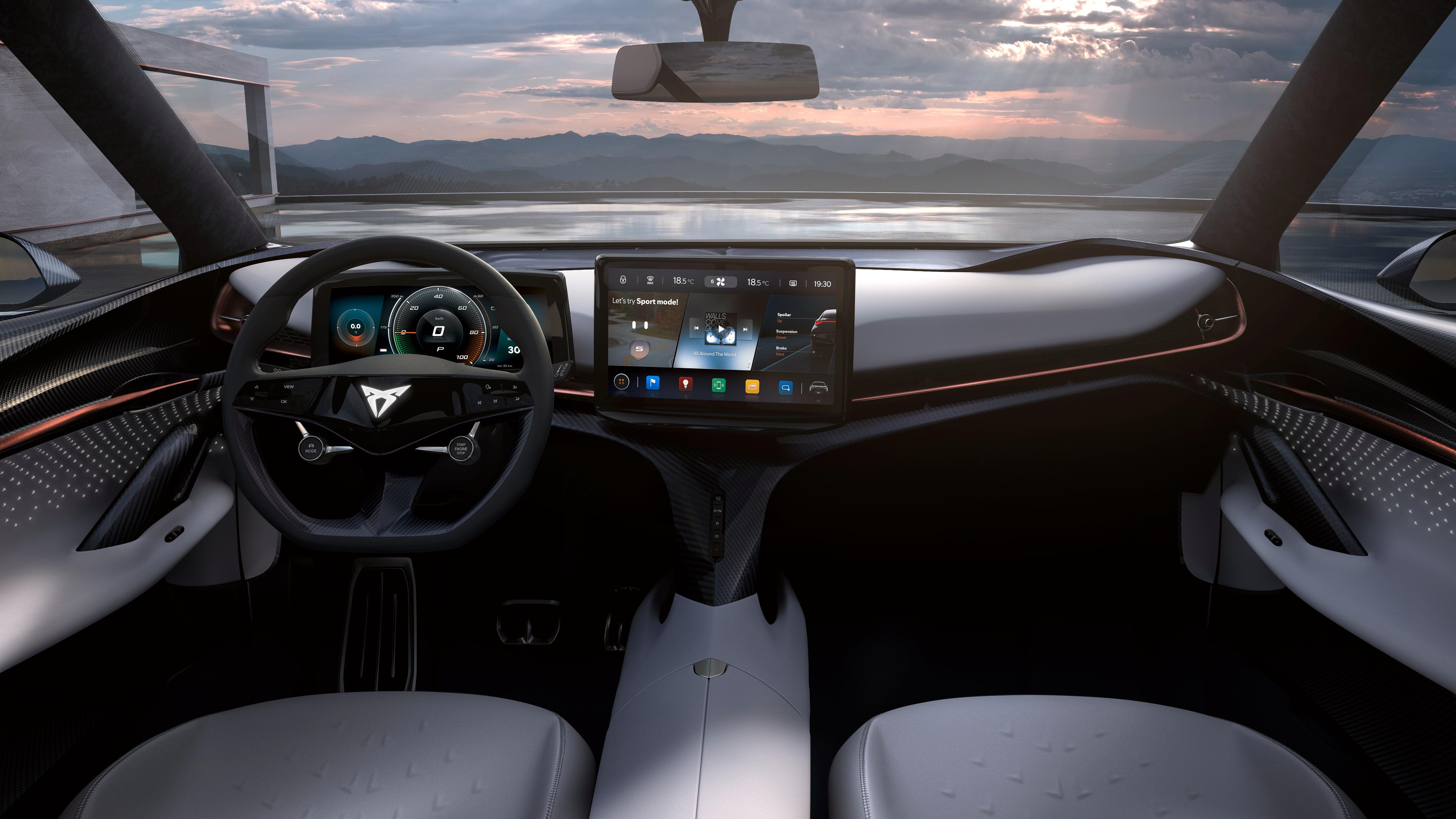 Infotainmentskjermen i Tavascan-konseptet gir tydelige hint om at dette er en bil som er beslektet med Volkswagens ID.3 og ID.4.