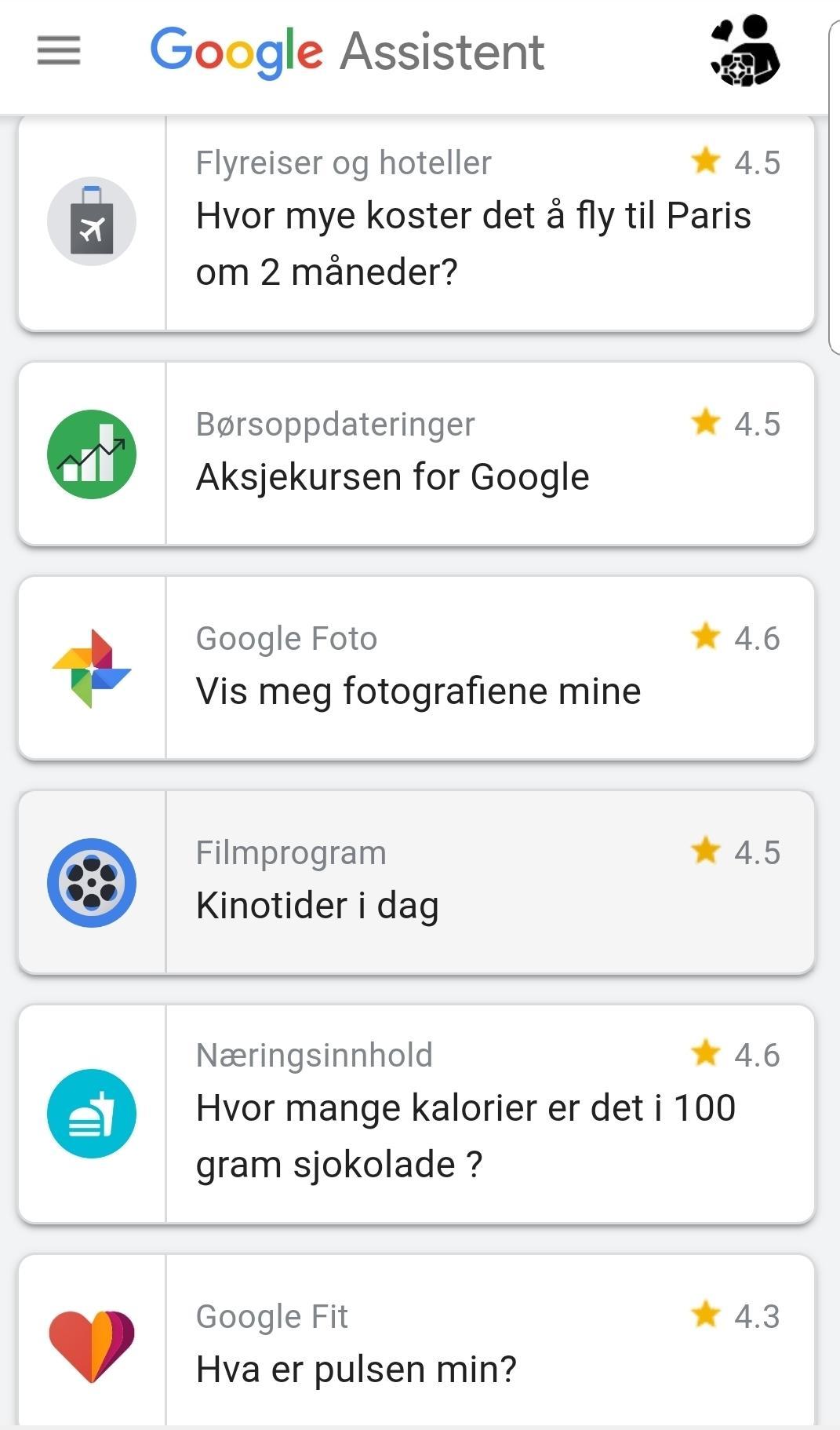Noe av det du kan gjøre med Google Assistent.