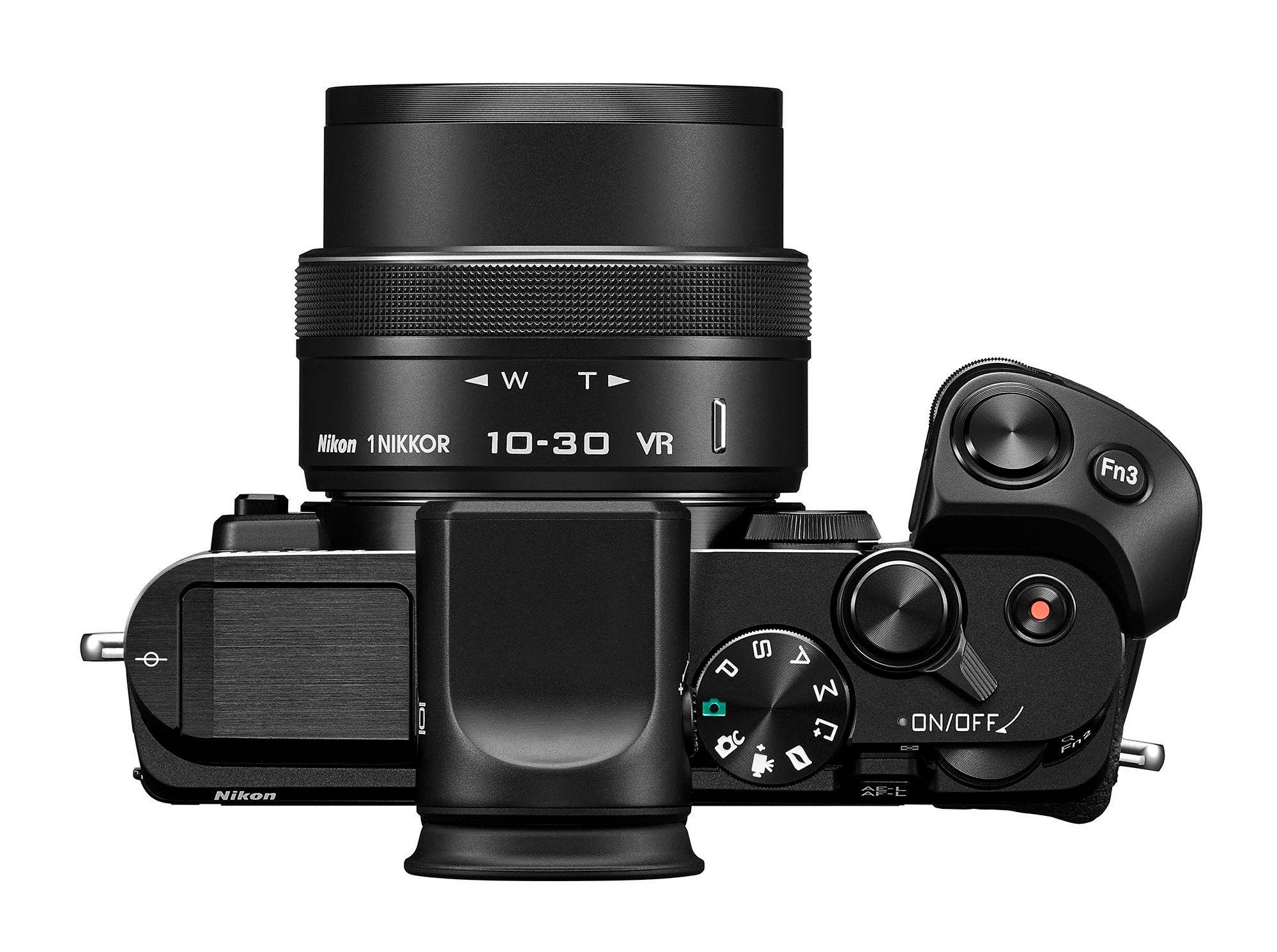 1 V3 kan utstyres med ekstra grep.Foto: Nikon